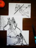 筆ペンでエヴァを描こうとした結果wwwwwwwwその3