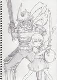 薩摩の剣士と庭師の剣士
