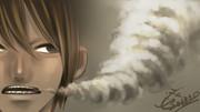 30分で描いてみた「煙」