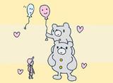 クマと風船