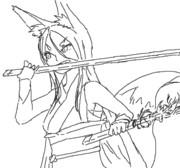 【らくがき】抜刀狐