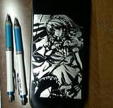 【筆箱】 十六夜咲夜を彫ってみた