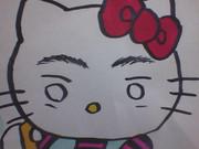 うろ覚えでキティ(?)描いてみた