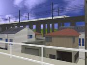 ゲキド街の新幹線