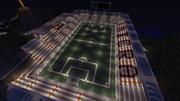 【Minecraft】 サッカースタジアム (グラウンド・夜)