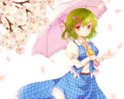 青ゆうかりんと桜