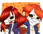 ヤンキーボーイ・ヤンキーガールver チロ(左)×まこと(右)【ろくでなし作】