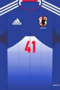 [自作]サッカー日本代表ユニフォーム13-14「新・富士山」[新テンプレート]