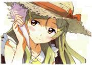 【色鉛筆模写】ひまわりちゃん第9話 ちょびっとニッコリ