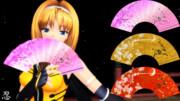 【MMD】零式扇子v1.3用 桜テクスチャ(v1.3)【アクセ用テクスチャ配布】