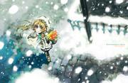 雪と花売り[壁紙・オブ・絶体絶命英雄]