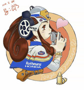 バイク少女♪(NSR50ロスマンズ)