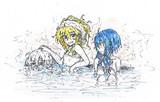 三人娘 入浴シーン