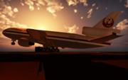 三発の鶴 ~JAL DC-10 リペイント~