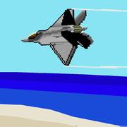 F-22戦闘機 海上飛行