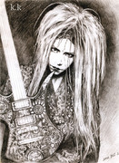 hide with guitar