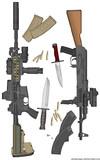 Stoner AR-15 vs Kalashnikov AK Modernizerovannyj