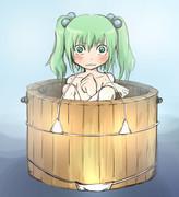 桶にマイクロビキニ着せてみた。あとキスメが入ってる