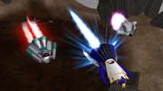 直球表題ロボットアニメの3名様を飛行形態に折りたたみ