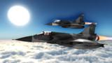 V02戦術戦闘機聯隊 第五作戦隊 Mirage 2000-5巡航一景