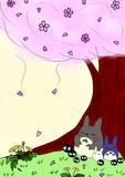 桜とクロ助