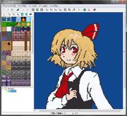 RPGツクール2000のマップエディット画面で作ったルーミア