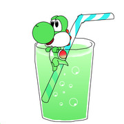 【ヨッシーの日!!】ヨッシー入りメロンソーダ