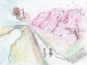 麻雀生主が春っぽいイラストを描いてみたらこうなった