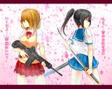 桜散る中で少女達は闘う