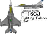 F-16CJ Fighting Falcon USAF