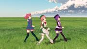 草原で歌うUTAU三人娘(その1)