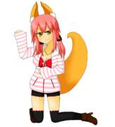 私服キャス狐