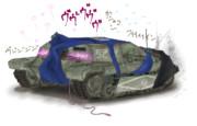 スク水戦車 ニーソ式 旧型 電動駆動