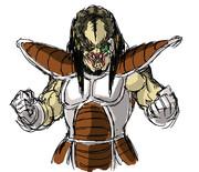 ドラゴンボールにでてくる戦闘服をプレデターに着させてみた