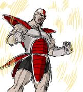 ドラゴンボールにでてくる戦闘服をクレイトスに着させてみた
