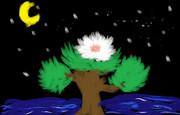 友人が書いた「盆栽」