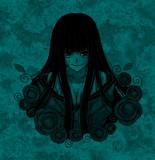 黒髪和服少女