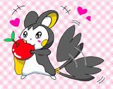 りんごもぐもぐ♪
