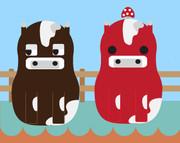 【マイクラを】牛【マトリョーシ化】