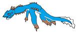 ノーパソのキーボードのしたにあるやつでラギアクルス描いてみた