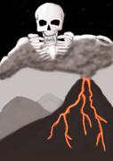 火山と悪魔