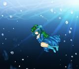Nitori that sinks in river