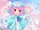 【企画絵】お題:春!幽々子【ぬったやつ】