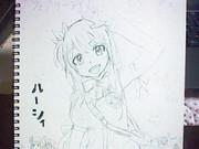 初投稿 ルーシィ 描いてみました。