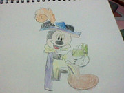 ディズニー30周年とゆうことでミッキー真似して書いた