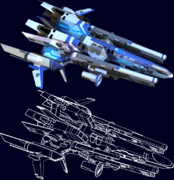 F/A-26 ドラグーン(エッジ・ライン抽出)