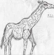 授業中に書いた落書き(キリン)