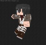 【Minecraft】進撃の巨人 ミカサ・アッカーマンスキン