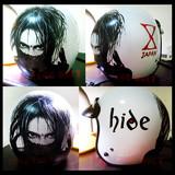 HIDEのヘルメット