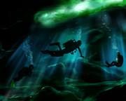 深海へダイビング